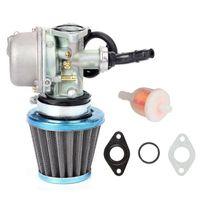 Motosiklet yakıt sistemi karbüratör karbonhidrat hava filtresi mini motor 50cc 70cc 90cc 110cc 125cc