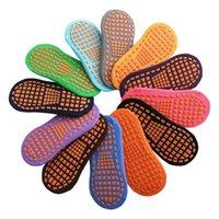 12 colores calcetines de trampolín calcetines de piso antideslizante niños padre-niño educación temprana adulto hogar yoga niños sin patinar