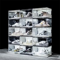 جديد التحكم في الصوت الصمام ضوء الأحذية واضحة مربع أحذية رياضية تخزين المضادة للأكسدة منظم الحذاء جدار مجموعة عرض الرف 2844 Q2