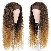 Water Wave Headband Wig For Afro Women Super Long Synthetic Hair Wig Kinky Curly Ombre Glueless Wig With Head Band Fashion Iconfactory direc