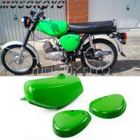 Sistema de combustible de la motocicleta 1 Set Light Green Oil Tank w / Derecho + Funda lateral izquierda Guardias para Simson S50 S51 S70 (190830, 200655)