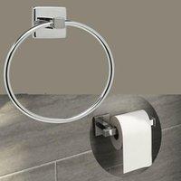 스테인레스 스틸 욕실 화장실 롤 홀더 솔리드 컬러 화장실 종이 홀더 라운드 수건 반지 세트 피팅 포함