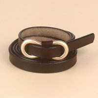 Women's Leather Thin Belt 8-shaped Fashion Temperament Calf Pants with New Waist Accessories