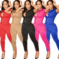 2021 Frauen Fitness Zwei Stück Trainingsanzüge Sommer Buttons Up Kurzarm Bluse-Hemd + Bodycon Skinny Hose Lounewear-Outfits