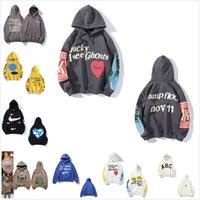 Moda Kanye Mens Sudaderas con capucha sudadera de mujer Tops de algodón de alta calidad con etiquetas Hip Hop letras Mangas largas impresas con caja