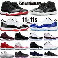 Sneakers de 25e Anniversaire Breed Bred Concord 45 hommes Basketball Chaussures 11 11S Space Jam légende Blue Femmes Formatrices sportives en plein air