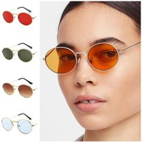 Fashion Sunglasses Oval Sun Glasses Alloy Frame Adumbral Anti-UV Spectacles Color Lens Eyeglasses Ornamenta A++