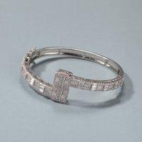 Fashion Gold Bangle Braccialetto Hip Hop Bracciale per gioielli Gelato Bracciali in argento Braccialetti d'argento