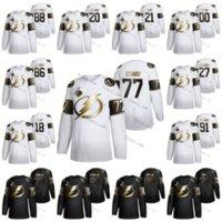 Donne personalizzate 2021 Stanley Cup Finals Champions Brayden Point Lightning Nikita Kucherov Hedman Steven Stamkos Golden Edition Ice Hockey Jerseys