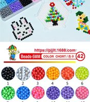 마술 물 접착제 구슬 퍼즐 장식 다채로운 크리스탈 DIY 비즈 물 스프레이 3D 퍼즐 교육 장난감 어린이 키트 공 게임