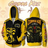 2021Chao Marca Cobra Karate Boy 3D Impressão Hooded Cardigan Men's Lote Lote SweaterWinter