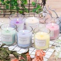 아로마 테라피 촛불 무연 향기로운 촛불 투명 유리 촛불 선물 상자 발렌타인 데이 선물 결혼식 장식 FWD4962