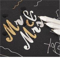 0.7mm Comic El-Boyalı Vurgu Kalem Metalik İşaretleyiciler Set Altın Gümüş Beyaz Boya Grafiti Kalemler Çizim Sanat Jllhea Yazma