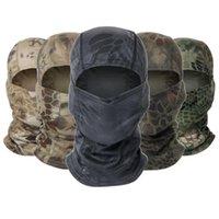 Cycling Caps & Masks Military CP Balaclava Full Face Scarf Neck Head Warmer CS Wargame Hunting Ski Sports Tactical Men Camo Bandana