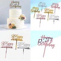 С днем рождения топпер топпер акриловые золотые торт топперы с днем рождения партии поставки торт украшения торта рекламные предметы