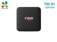 T95 S1 الروبوت 7.1 صندوق التلفزيون 2GB 16GB 1GB 8GB AMLOGIC S905W رباعية النواة دعم 4K 2.4G WIFI