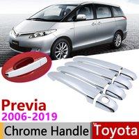 Für Toyota Previa Tarago Senkung Aeras XR50 2006 ~ 2019 Chrome Türgriff Abdeckung Autozubehör Aufkleber Trim Set 2009 2013 2018