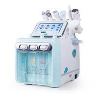 6 in 1 다기능 피부 젊 어 짐 산소 H2O2 얼굴 청소 및 주름 제거제 기계 미세 박피술 용 작은 거품