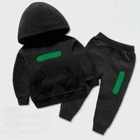В наличии Дизайнер Детские наборы одежды 1-9 лет детские мальчики девушки свитер костюм костюмы + брюки дети капюшон A001