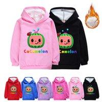 Cocomelon cartoon autunno inverno felpe per bambini moda jj boys ispessori con cappuccio cyps vestiti all'aperto casual bambini con cappuccio t-shirt regali G90JI0T