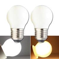 Bulbos Lampadina LED E27 Globo Bombilla 110V 220V 4W Milky Shell COB Dimmer Iluminación G45 Dimmable para la lámpara de casa de la casa 220 voltios