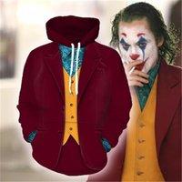 2021 Film Joker Rthur Fleck Hoodie Cosply Hip Hop Kapüşonlu Swetshirt Kapşonlu Hoodie Kostüm Erkek Kadın Clohing Jckets Top