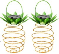 النباتات الاصطناعية أضواء حديقة الشمسية الأناناس الشكل الشمسية شنقا ضوء ماء الجدار مصباح الجنية أضواء الليل الحديد الأسلاك الفن المنزل dwe8119