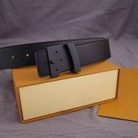 2021 Fashion Big buckle genuine leather belt with box designer men women high quality mens belts AAA208 waistbands 90cm-120cm length gykgtk