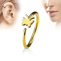 Butterfly Nose Rings Non Piercing Clip On Nose Ring Indian Style Butterfly Nose Cuff Fake Piercing Jewelry
