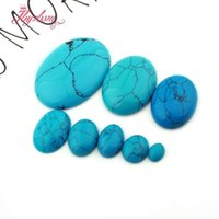 Andere ovale turquoises kralen cabine cabochon flatback dome undrilded natuursteen voor diy pandandt oorbel ring sieraden maken 5pcs