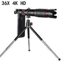 Universal 4K 36x zoom telescópio telescópio telescópio teleobinança externa smartphone câmera lente para celular