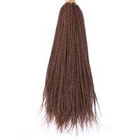 Химическое волокно Ручная потирание Две пряди женских грязных косичек Азиатский африканский сенегаль твист волос парик