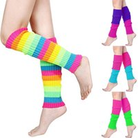 Sports Socks Women Striped Boot Cuffs Gaiter Neon Sock Para Tripe Tights Slimmer Thigh High 2021 Legwarmer