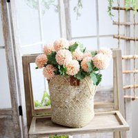 1 шт. 57см искусственный одуванчик цветок шелковый гиацинт украшения свадьбы для домашней вечеринки отель садовый декор розовый фон стены