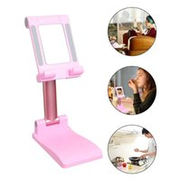 Cell Phone Mounts & Holders 1 Pc Creative Folding Portable Cellphone Holder Tablet Stand Desktop With Mirror