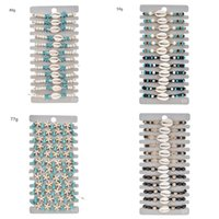 12pcs Fashion Jewelry Charm Bracelets Set Adjustable Shell Turquoise Beads Starfish Woven Bracelet Animal Design Wooden Beaded 1162 B3