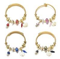 Titanium Steel Gold Bracelet Adjustable DIY Lovely Fox Heart-shaped Pendant Bracelets For Women Gift