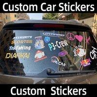Пользовательские наклейки автомобиля Имя логотип текстовые автомобильные наклейки пользовательские наклейки для автомобилей Автоматический мотоцикл бампер дверь дверь BodyHollow