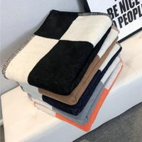 Blankets Plaid H Cashmere Blanket Crochet Soft Wool Scarf Portable Warm Sofa Bed Fleece Knitted Throw Cape Brand 140x170cm