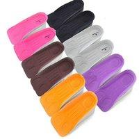 1 쌍 임의의 색 높이 증가 신발 깔창 폼 고무 키가 큰 구두 삽입 구두 패드 지원 패드