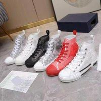 2021 Edição Limitada Custom Impresso B23 Sapatos de Lona Moda Versátil Sapato alto e baixo com embalagem original 35-46 Todas as cores