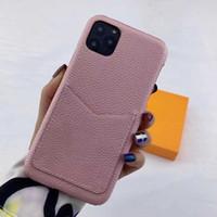 Mode iPhone Hüllen für 12 PRO MAX 11 11PRO 11PROMAX XR XS X XSMAX 7 8 Plus PU-Lederschale mit Karte Samsung S10 S20plus S20U Anmerkung 10 10p 20 Ultra-Schutzabdeckung