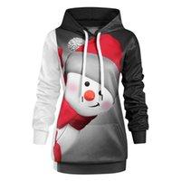 Women's Hoodies & Sweatshirts STSVZORR Christmas Digital Printed Snowman Hooded Long Sleeve Pullover
