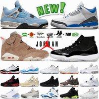 Air Jordan White Oreo 4 4S كرة السلة الأحذية السوداء القط 3 متسابق الأزرق جامعة 6 6 ثانية الكهربائية الأخضر 11 11 ثانية bred 10 10 ثانية jingman رجل الرياضة رياضة المدربين إمرأة المدربين AJ3