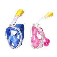 Subaquático Scuba Anti Nevoeiro Rosto Full Máscara Máscara Snorkeling Máscaras Respiratórias Seguro Equipamento de Natação Impermeável para Jovens Adultas