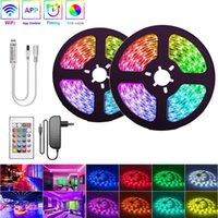 Strips RGBWW LED Strip Light RGB SMD 2835 Flexible Ribbon 5M 10M 15M 20M