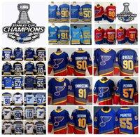 2021 Reverse Retro St. Louis Blues Hockey Jerseys Stanley Cuppions 91 블라디미르 Tarasenko 90 Ryan O'Reilly Colton Parayko Brayden Schenn Binnington David Perron