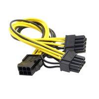 500 шт. 8 PIN-код Женщина к двойным PCI-E PCI Express 8Pin (6 + 2 PIN-код) Мужской кабель питания для видеокарты