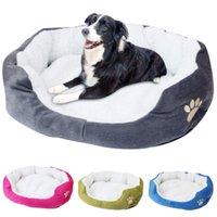 Cama de estimação cama de pelúcia quente sofá dormindo esteira de animais de estimação com capa removível para cães Cobertor Cobertor Casa Cama Perro Acessórios Hondenmand