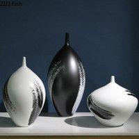 Vase en céramique de style chinois Grand Arrangement de fleurs Flower Pot de bureau Décoration de bureau Salon Salon Salon Décoration Vase Artisanat